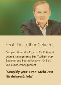 Lothar Seiwert beim National Achievers Congress